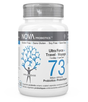 Best High-Potency Probiotic Supplements. Ultra-Strength & Travel - NOVA Probiotics. 73 Billion CFU per enteric-coated capsule.